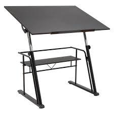 Studio Designs Drafting Tables Studio Designs Zenith Drafting Table Pewter Teak Walmart