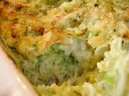 cuisiner les courgettes gratin de risonis au courgettes les délices d hélène