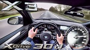 bmw x3 2017 xdrive 30d acceleration u0026 top speed pov test drive by