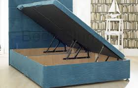 Ottoman Storage Beds Uk by New Ottoman Storage Divan Base With 10 Ribbed Colour Options