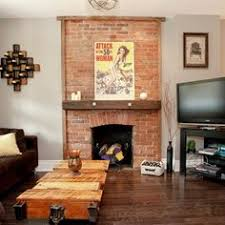 wall color u0027contemplation u0027 behr for living room with red brick