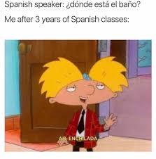Memes In Spanish - hey arnold meme spanish speaker on bingememe