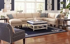 Sunroom Sofas Furniture Casual Sunroom Design With U Shape Cream Leather Sofa