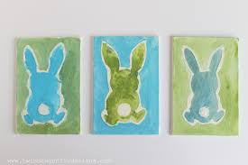 watercolor and glue bunny craft for kids dragonfly designs