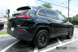 jeep cherokee black 2016 jeep cherokee with 18in black rhino warlord wheels exclusively