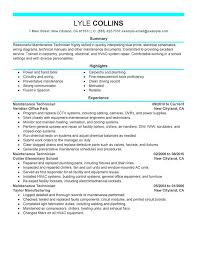 Stand Out Resume Unforgettable Maintenance Technician Resume Examples To Stand Out