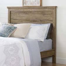 Oak Bed Weathered Oak Beds U0026 Headboards Bedroom Furniture The Home Depot