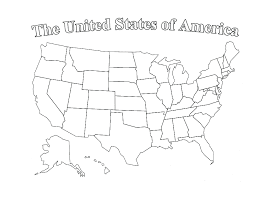 Printable Map Of United States by Brooks Activity