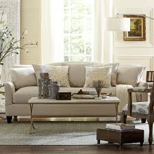 furniture beige pottery barn sleeper sofa with decorative