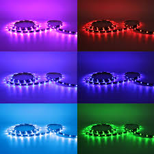 strips of led lights multicolor rgb led strip accent lighting kit torchstar