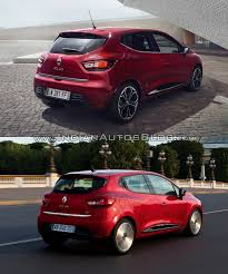 renault clio 2012 2016 renault clio facelift vs 2012 renault clio rear three