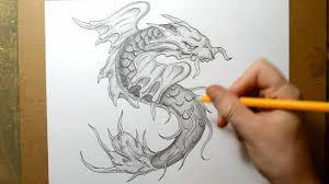koi fish morphing into a dragon sketching design idea youtube