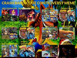 Crash Bandicoot Meme - my crash bandicoot controversy meme by tdgirlsfanforever on deviantart