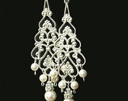 pearl chandelier pearl chandelier etsy