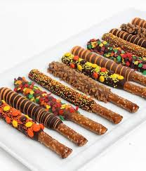 wholesale pretzel rods chocolate covered company fall chocolate covered pretzels