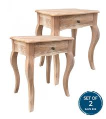beautiful oak french style shabby chic bedside table