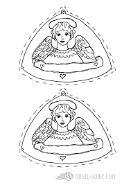 printable christmas gift tags with angel drawing here the angel