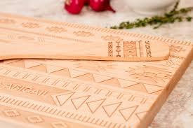 aztec gift set personalized cutting board kitchen utensil