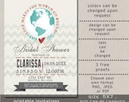 travel themed bridal shower invitations travel themed bridal
