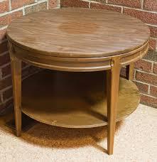 Mersman End Table Vintage Round Mersman Side Table Ebth