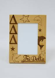 sorority picture frame deluxe sorority wooden frame geaux southern