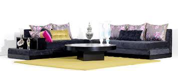 tissu salon marocain moderne salon marocain moderne noir et rouge