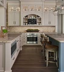 modern kitchen blue pearl granite white subway tile backsplash