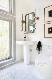 Small White Bathrooms Small White Bathroom Features An Ikea Yddingen Washstand Donning