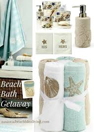to play off on the water theme these beach bath accessories and