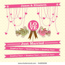 Just Married Cards Free Just Married Vector Card Download Free Vector Art Stock