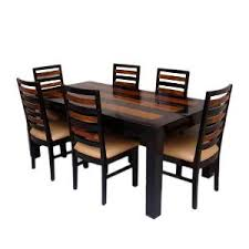Dining Table Sets Buy Induscraft Trendy Sheesham Wood 6 Seater Dining Table Set