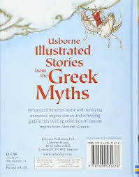 illustrated stories from the greek myths usborne illustrated