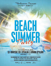 summer beach party flyer poster psd template other psd free download