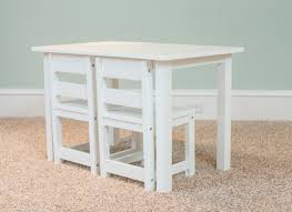 White Table Set - kids play table and chairs for young children maxtrix