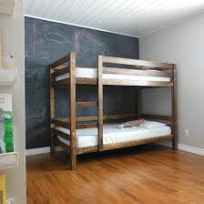 Make Your Own Wooden Bunk Bed by Come See How We Built A Simple Diy Bunk Bed For Our Kids Bedroom