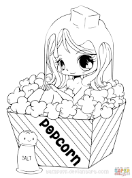 coloring pages good coloring pages chibi popcorn