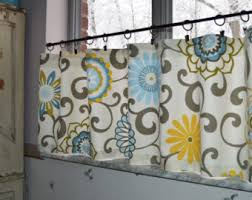 Gray Cafe Curtains Kitchen Curtains Etsy