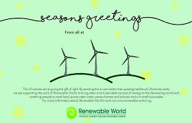 christmas cards renewable world