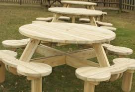 Wood Picnic Table Plans Free by Free Hexagon Picnic Table Plans Pdf Woodworking Plan Directories