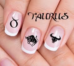 zodiac color taurus nail art zta 30 taurus sign bull zodiac astrology