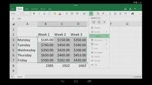 Spreadsheet App For Android Tablet Excel For Android Tablet Getting Started Youtube