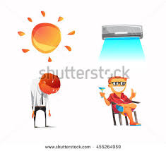 comfortable life air conditioner comfortable life isolated on stock vector