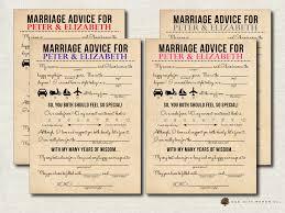 Printable Halloween Mad Libs by Printable Wedding Mad Lib Wedding Advice Card Newlywed