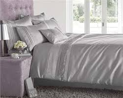 Duvet Curtain Sets New Luxury Diamante Bedding Duvet Cover Bed Sets Lined Eyelet