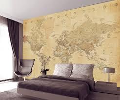 vintage world map wallpaper old style vintage design wallpaper murals