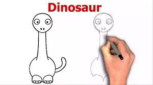 how to draw cartoon dinosaur coloring youtube