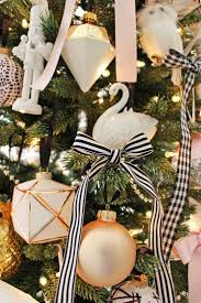 White Christmas Tree With Red And Gold Decorations Best 25 Christmas Ribbon Ideas On Pinterest Christmas Ribbon