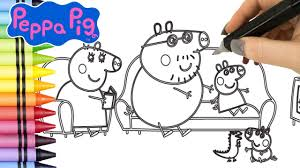 peppa pig coloring book videos kids coloring pages peppa