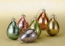 glass easter egg ornaments egg ornaments glass set of 6