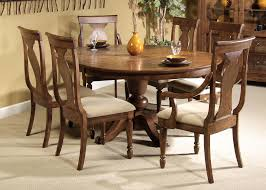 simplistic high gloss brown varnished walnut rustic dining table